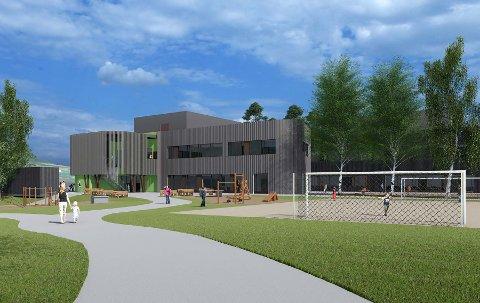 SKAL - SKAL IKKE?: Ny barneskole på Biri prosjekteres bygges større enn dagens elevtall skulle tilsi. Rådmannen tror imidlertid på vekst knyttet til ny E6 og mjøssykehus.