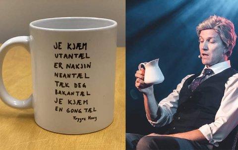 DIKT TIL KAFFEN: Poeten Trygve Haug (Paul Håvard Østby) gjorde under årets Urbane Totninger så stor suksess med sine erotiske dikt på kaffekrus at de har blitt en storselger i Urbane Totningers nettbutikk.