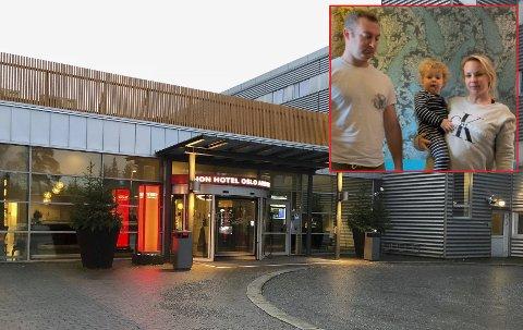 MISFORNØYD: – Smittevernet her er dårlig, sier Martine McCracken om Thon hotel Oslo Airport som hun og familien måtte tilbringe åtte døgn på.