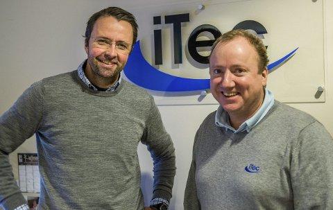 God vekst i 2017: Ove Haugen og Ståle Ellingsen i iTec på Hegdal er i ferd med å legge bak seg et knallår. Bare i 2017 har de ansatt ni nye personer til salg, service og administrasjon.