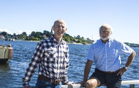 Stort tilbud: Bjørn Jeksrud (til venstre) og Jan Kaasa i Larvik og Omegns Turistforenings seniorgruppe kan presentere et omfattende høstprogram. Her er det nok å ta seg til for folk som vil ut i naturen.
