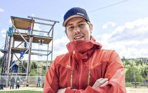 KLAR FOR ÅPNING: Markedsansvarlig Ole Kristian Hansejordet gleder seg over en ny sesong med Høyt & Lavt, selv om han selv skal slutte.