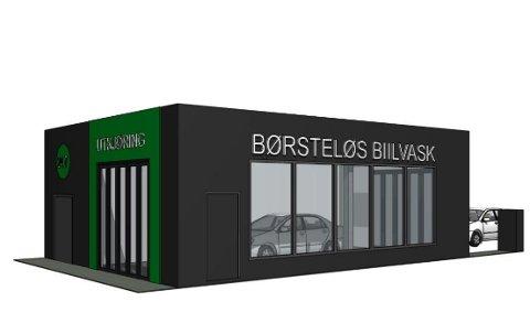 BILVASK: Får eierne av Bilvaskesenteret det som de vil, kan en slik hall bli å finne i Larvik fra 2022.