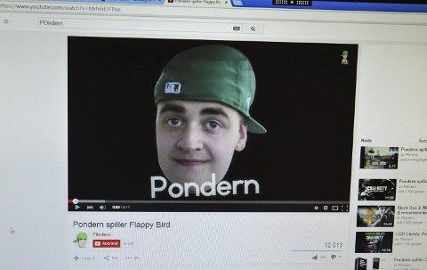 Nettkjendis: Simen Stubbom Nordsveen, her som Pondern, kan vinne Gullsnutten for sine bidrag til YouTube.