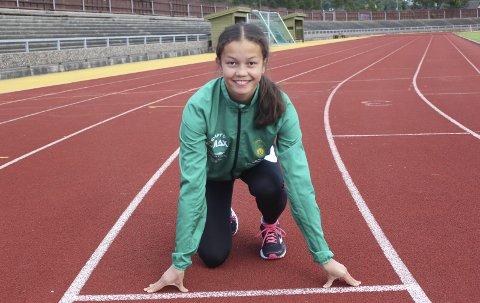 Rask: Lisa Stensøy har tatt to kretsrekorder etter hun kom tilbake fra skadeproblemene. Foto: Trym Isaksen