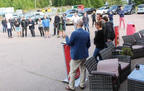 PRESSEKONFERANse: På pressekonferansen varslet Gunnestad og privatetterforsker politianmeldelse mot Oddbjørn Lia. Nå bekrefter politiet at Gunnestad er anmeldt og under etterforsking.