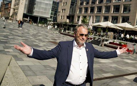 Party: Byrådsleder Raymond Johansen ønsker velkommen til et tre dagers sammenhengende party i hovedstaden i helga. – Bånn i været, jubler Raymond!