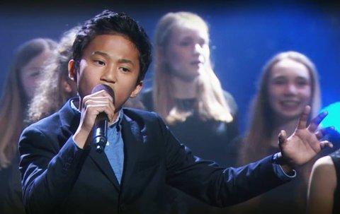 Christian Ibarola (11) sang seg inn i mange hjerter også udner fredagens finale i Norske Talenter, men gikk ikke helt til topps.