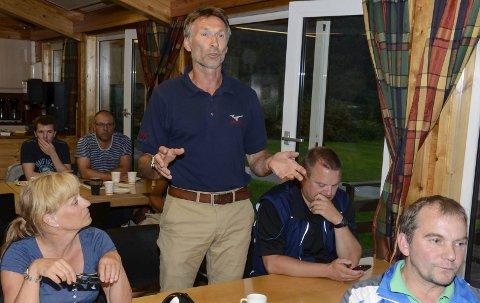 PÅ GANG: Trond Jøran Pedersen ser positivt på den økonomiske biten av prosjeketet. Det kan bety byggestart i løpet av en måneds tid.Foto: Per Vikan
