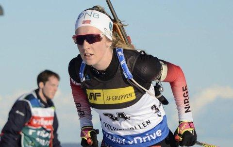 NEDTUR: Emilie Ågheim Kalkenberg har vært syk, men er nå klar for en ny runde i IBU-cupen.
