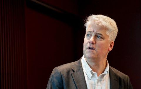 Oslo 20200106.  Sjeføkonom Øystein Dørum i NHO, har pressekonferanse om årets årskonferanse, som i år er kalt Neste trekk. Foto: Vidar Ruud / NTB scanpix