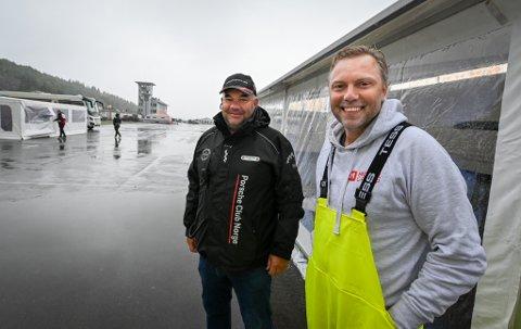 ACR Arctic Circle Midnight Cup 2021. Wiggo Dalmo foran et av teltene teamet hans har. Sammen med Porcheklubbens representant