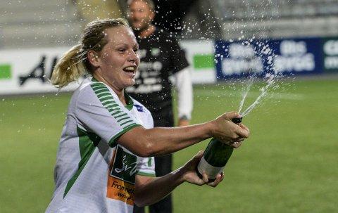Spiller søndag: Silje Nyhagen og hennes lagvenninner skal spille den første kvalikkampen hjemme mot Kaupanger søndag.