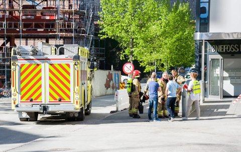 Denne gangen var det bare en øvelse da brannvesenet rykket ut til samfunnshuset.