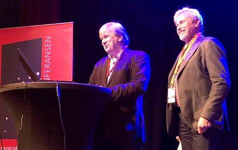 PÅ RINGERIKSKONFERANSEN: Per R. Berger og Kjell B. Hansen.