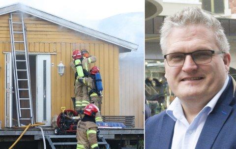 STØTTE: Dag Øivind Henriksen takker for all støtte i forbindelse med brannen i huset hvor foreldrene bodde.