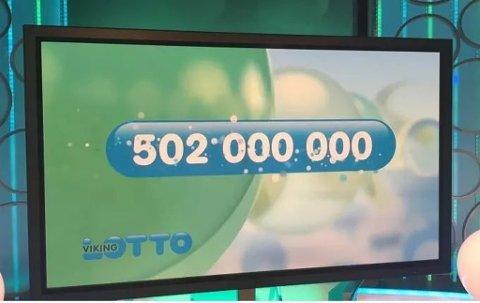 Forrige uke passerte premiepotten i VikingLotto en halv milliard kroner. Det har aldri skjedd før. Foto: Lars Hulleberg/Norsk Tipping