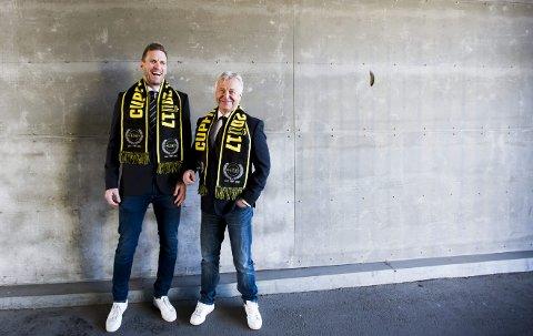 Henger sammen: Før Frode Kippe (t.v.) hevet kongepokalen i 2007, var Arne Erlandsen den siste LSK-spilleren som har vunnet cupen som kaptein. Søndag går de igjen i bresjen for kanarifuglene – som trener og kaptein.