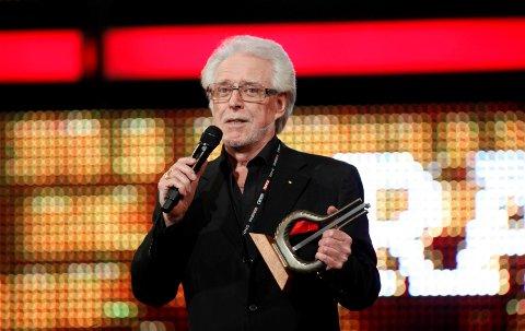 Musikkbransjeprofilen Barry Matheson er død, 79 år gammel. I 2009 mottok han bransjeprisen under utdelingen av Spellemannprisen i Oslo Spektrum. Foto: Stian Lysberg Solum / NTB scanpix