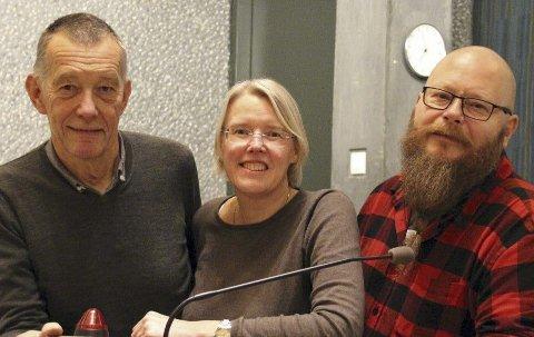 BR OM INNSPILL: Marthin Berthelsen fra Hurum, Janne Grøttumsbråten fra Heggedal og Bernt-Leon Hellesø fra Røyken ber om innspill til Asker SVs valgprogram.