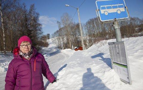 UFORSTÅELIG: Gerd Eva Volden forstår ikke argumentene fra Brakar for å slutte å kjøre rute 85 gjennom Mølleveien.