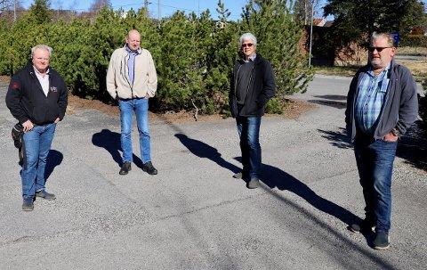 FRYKTERDET VERSTE: Fra venstre Hans Petter Lannerstedt, Arne Johan Fossum, Eivind Grønvold og Per Olav Svidal.