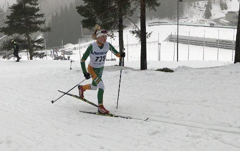 Fort: Johanna Vedal Sjøl går fort i Kapellbakken - 16. beste tid.