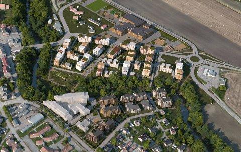 NÆRMER SEG: Planlagt byggestartsdato for de nye sentrumsskolene er 1. juni.