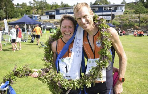 Reint Bord: Ekteparet Brita Cecilie og Per Gunnar Mustad fra Langesund vant dame- og herreklassen i Gråtassen 2015.Alle foto: Oddvar Børve