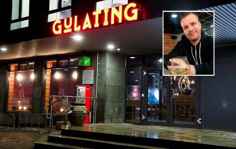 TAPER MYE: Daglig leder hos Gulating pub Sandefjord, Daniel Bech Erlandsen fortviler. Nå håper han på dugnadshjelp fra folk som ønsker å beholde et variert uteliv i byen. FOTO: Møller/ Privat