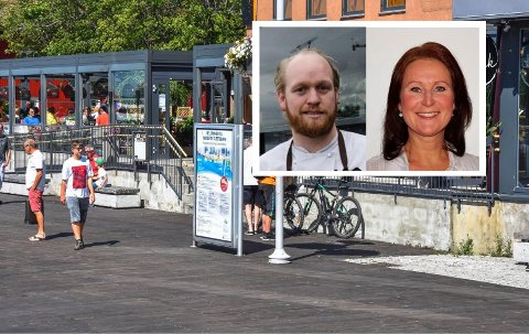 AVKLART: Martin Eivik er daglig leder på Paparazzi, som arrangerer champagnelunsj på lørdager. Skjenkekontrollør Annikken Johnsrud mener innholdet i restaurantens facebook-arrangement bryter med reklameforbudet i alkoholloven, men Tønsberg kommune reagerer ikke.