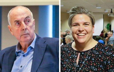 PÅ HVER SIN KANT: Stanley Wirak (Ap) og Guro Heggemsnes Fløysvik (KrF) er uenige når det kommer til sammenslåingen mellom Sandnes og Forsand. De er også uenige om veien videre for den sammenslåtte kommunen.