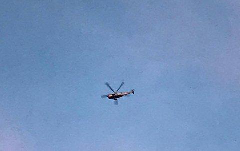 SeaKing redningshelikopter bisto i leteaksjonen utenfor Øyenkilen fredag kveld.