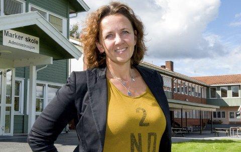 Møtte Foreldrene: Rektor Mona Søbyskogen evaluerte skyssordningen med foreldrene. ARKVIFOTO
