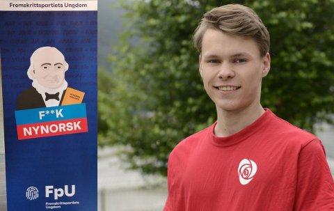 KRITISERER KAMPANJE: Kampanjen FpU køyrer i samband med skulevalet får krass kritikk frå Egil Natvik Vestrheim, ungdomskandidat for Arbeidarpartiet i Sogn og Fjordane.