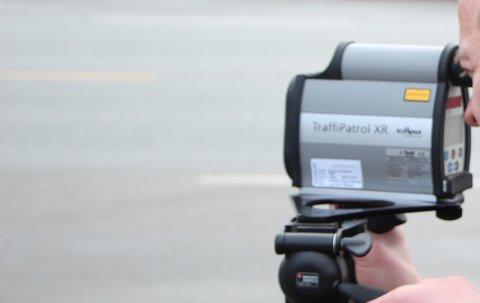 FARTSMÅLING: UP gjennomførte fartskontroll på Tau. Arkivfoto.