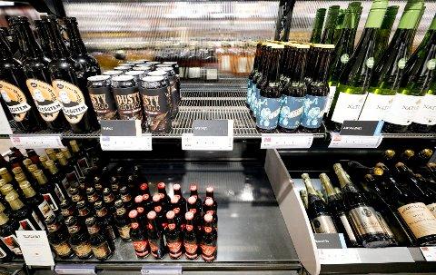 OSLO  20190124. Salget av alkoholfrie varer hos Vinmonopolet har økt betraktelig. Hos Vinmonopolet på Oslo S er flere av produktene utsolgt. Foto: Fredrik Hagen / NTB scanpix