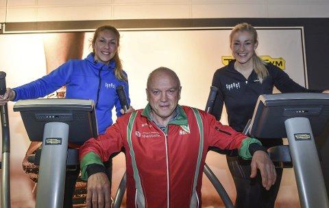 Tinfosløpet 2018: Anja Øymo (t.v.), Stine Traen Hefre og Hugo Christensen oppfordrer bedrifter til å mobilisere foran årets Tinfosløp. Løpet arrangeres 4. mai – det betyr at man har rikelig med tid på seg på å sette sammen lag.