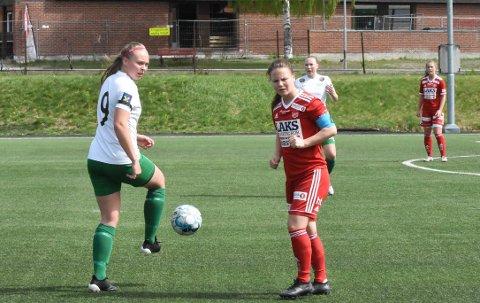 KLAR: Eline Westeng Bakken er klar for å ryste topplaget Fløya søndag. Her fra en tidligere kamp mot Medkila.