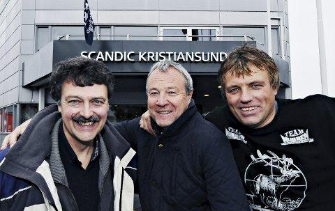 Tore Kristiansen (fra venstre), Eilif Odde, Per Erik Hoem og Kristiansund Sjakklubb er vertskap for lag-NM i helga.
