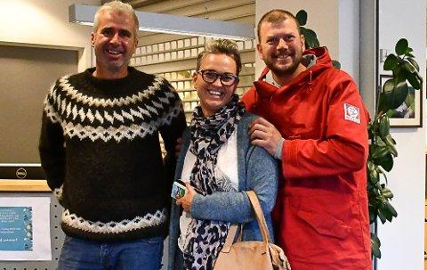 Venstre sitter med nøkkelen: Fv Anders Oppegaard, som er nyinnvalgt i kommunestyret, June Marcussen (førsetkandidat) og Tor Granerud (sitter i forhandlingsutvalget).