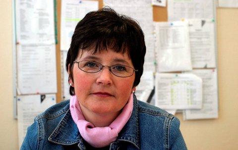 RESTERAVHASJ:Rektor Lisbeth Jørgensen på Slattum skole meldte funnet til politiet.