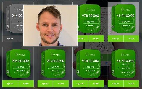 Til salgs: Martin Jensen (32) har rundt 200 telefonnummer han selger til ulike summer gjennom selskapet GullnummerAS.