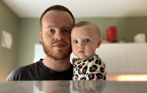 - ET MARERITT: Pappa Hallvard Eggestad (31) hadde ikke trodd at koronasmitte kunne føre til sykehusinnleggelse for hans fem måneder gamle sønn.