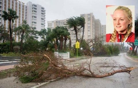 IRMA: Karen Hesthammer fra Drøbak fikk oppleve hvilke ødeleggelser orkanen Irma gjør.