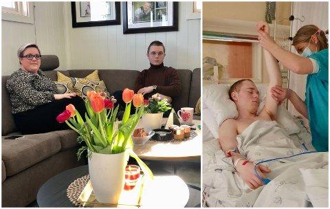HJEMME: Lars-Martin Sørheim Brorson og Mai-Grete Flata Sørheim fra Lunner har lagt bak seg et tøft år.