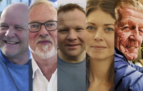 TOPP FEM: Her er de mandatene som fikk flest personstemmer, eller kryss, under valget på mandag. F.v. Kai Strat (H), Per Kr. Lunden (Ap), Stian Lund (V), Elen Lauvhjell (Ap) og Oddvar Mykland (Ap).Foto: arkiv