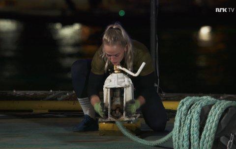 I TRIELL: Ane Iselin Brogeland fra Moi måtte i søndagens episode av Norges Tøffeste ut i en triell.