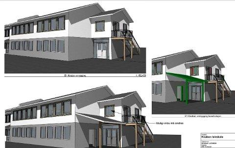 PLANER: Her ser man noen av fasadeendringene som nå er vedtatt.