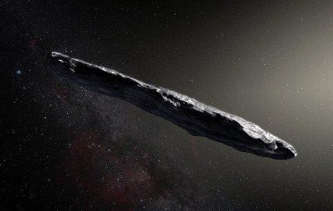 Slik tenker man seg at Oumuamua ser ut